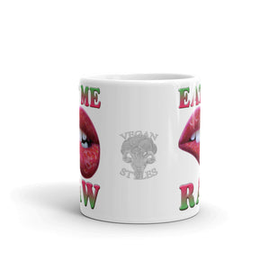 "Vegan-Styles ""Eat Me Raw"" Ceramic Mug - vegan-styles"