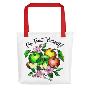 "Vegan-Styles ""Go Fruit Yourself"" Tote bag - vegan-styles"