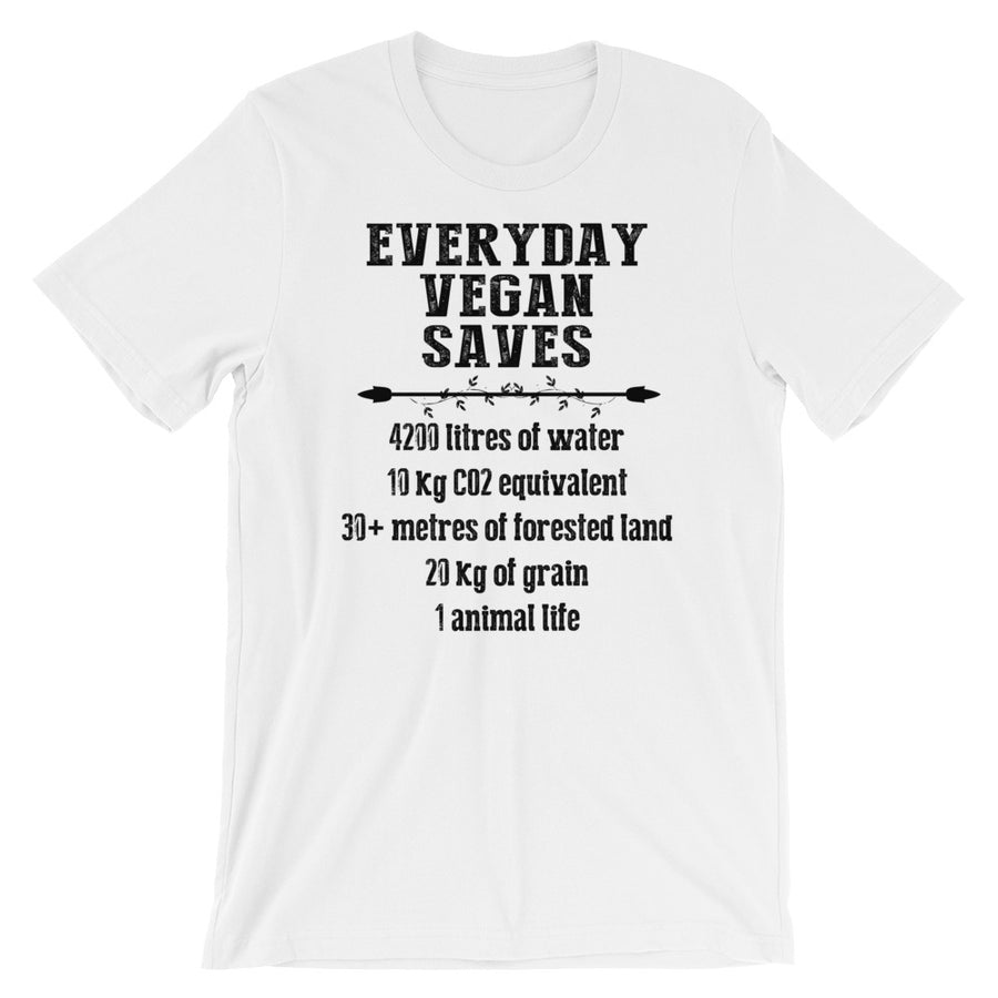 """Vegan Saves"" Short-Sleeve Unisex T-Shirt - vegan-styles"