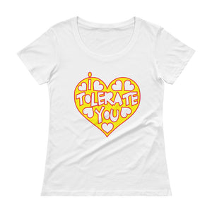 "Vegan-Styles ""I Tolerate You"" Ladies' Scoopneck T-Shirt - vegan-styles"