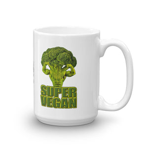 "Vegan Styles ""Super Vegan"" Broccoli Ceramic Mug - vegan-styles"