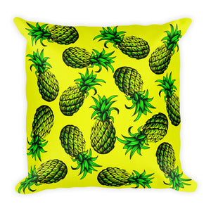 """Pineapple"" Yellow Premium Pillow - vegan-styles"