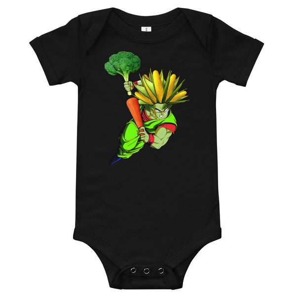 ''Super Vegan'' baby bodysuit - vegan-styles