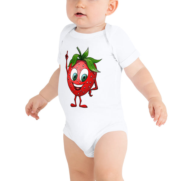 '' Happy Strawberry'' baby bodysuit - vegan-styles