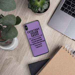 '' vegan saves'' iPhone Case - vegan-styles