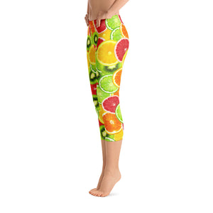 """Citrus"" Capri Leggings - vegan-styles"