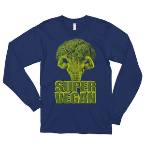 """Super Vegan"" Long sleeve t-shirt (unisex) - vegan-styles"