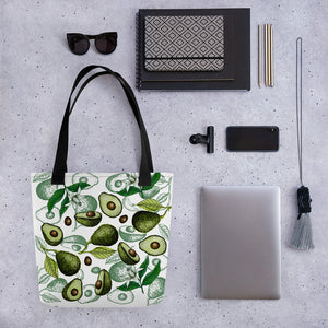 '' Avocado white'' Tote bag - vegan-styles