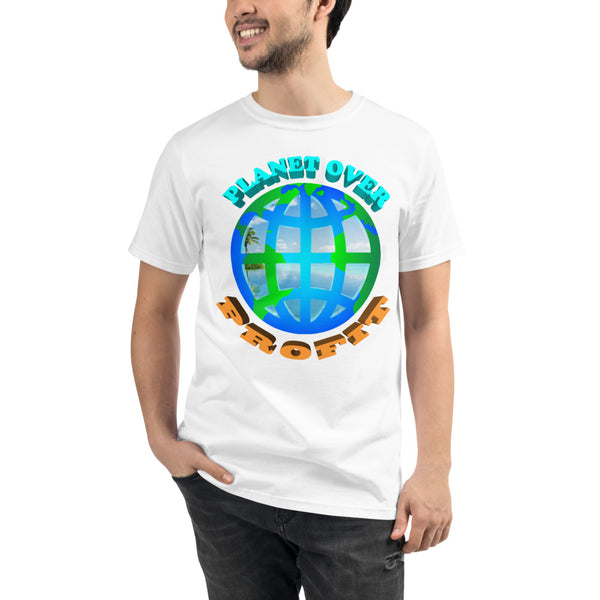'' planet over profit'' Organic T-Shirt - vegan-styles
