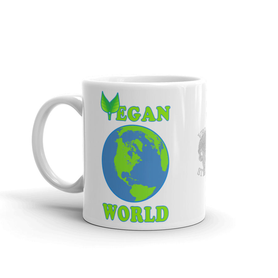 "Vegan-Styles ""Vegan World"" Ceramic Mug - vegan-styles"