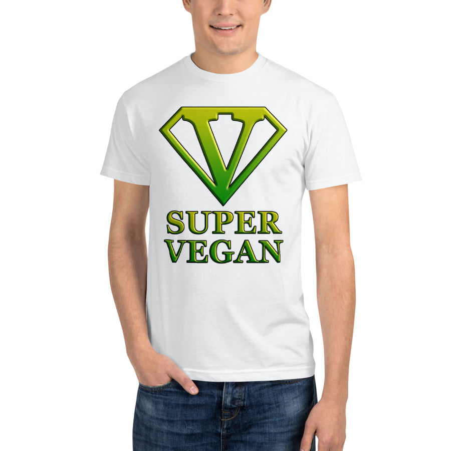 """Super Vegan"" Sustainable T-Shirt - vegan-styles"