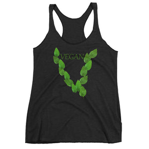 """Leaves"" Racerback Tank - vegan-styles"