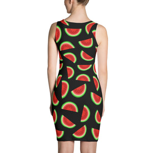"""Watermelon"" Black Dress - vegan-styles"