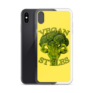 '' Yellow logo'' iPhone Case - vegan-styles