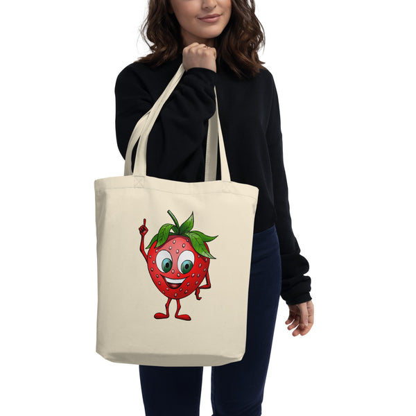 '' Strawberry'' Eco Tote Bag - vegan-styles