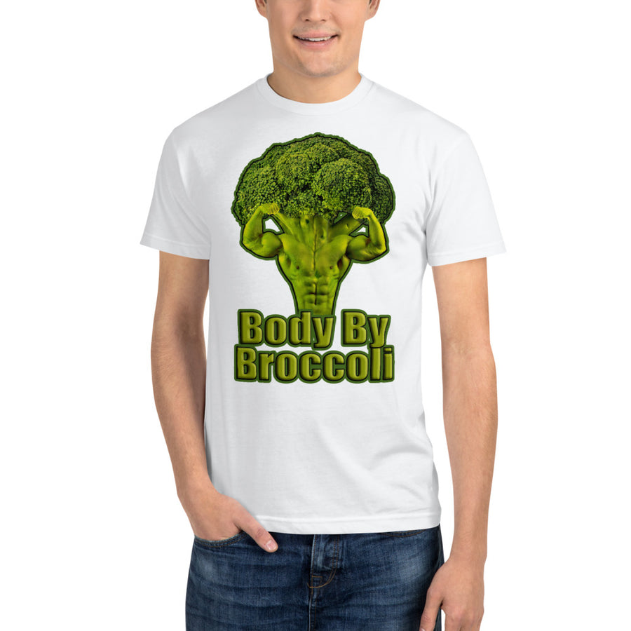 """Body By Broccoli"" Sustainable T-Shirt - vegan-styles"