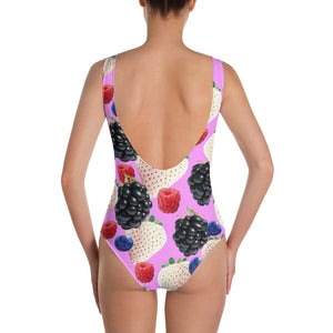 """Berries"" One-Piece Swimsuit - vegan-styles"
