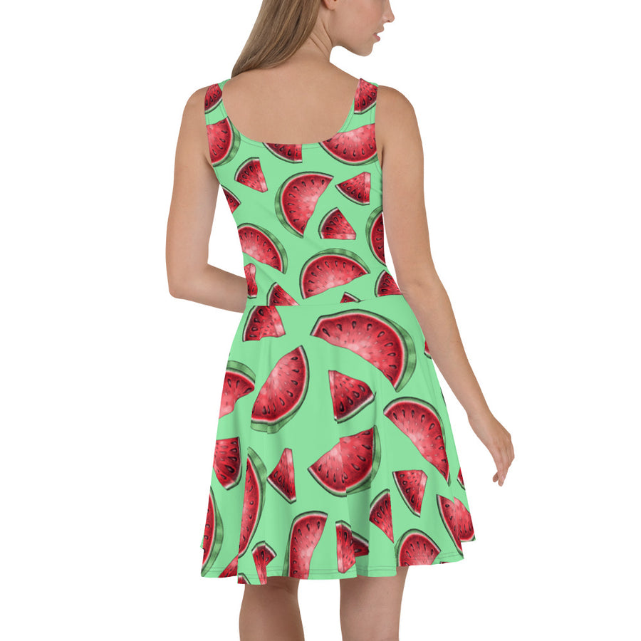'' Watermelons'' Skater Dress - vegan-styles