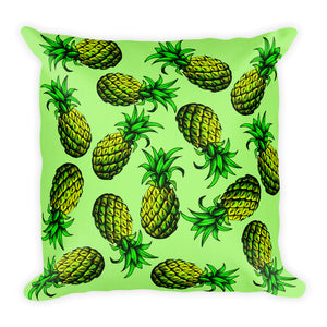 """Pineapple"" Green Premium Pillow - vegan-styles"