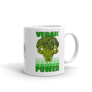 "Vegan-Styles ""Vegan Power"" White Ceramic Mug - vegan-styles"
