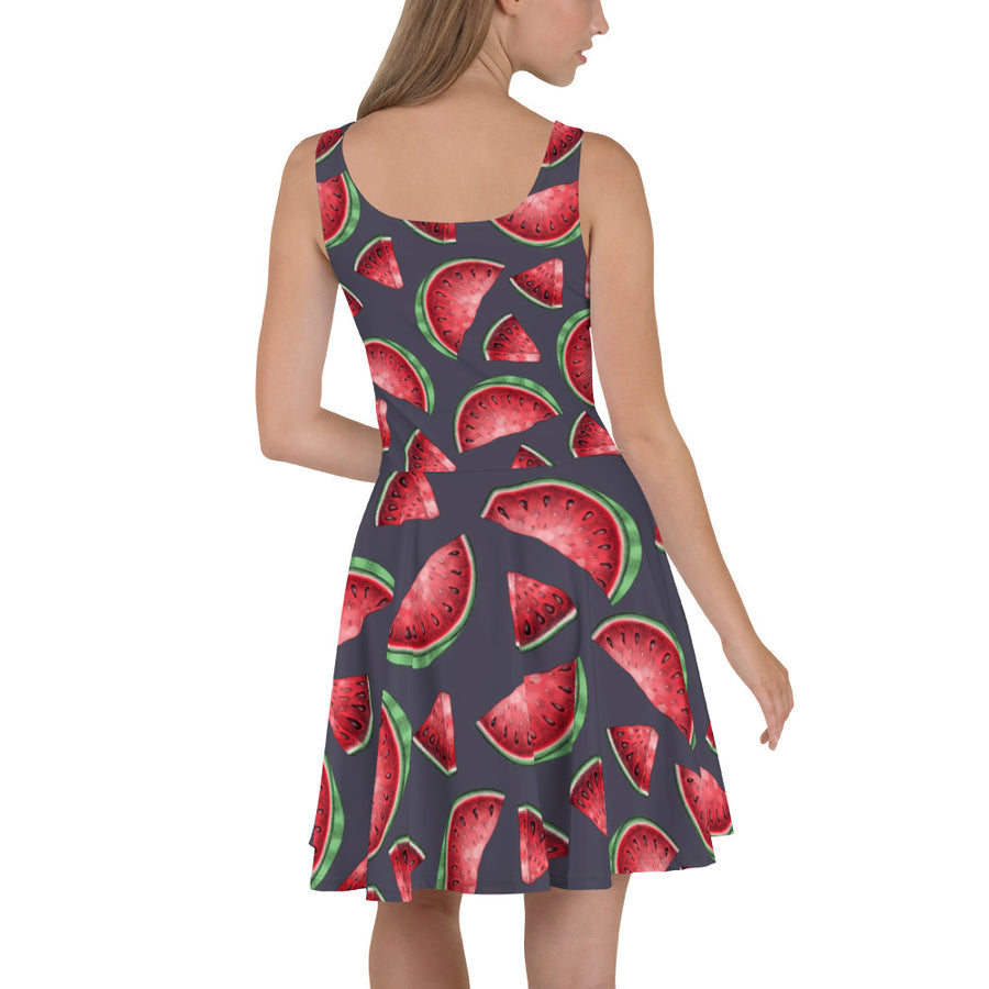 '' Watermelon'' Skater Dress - vegan-styles