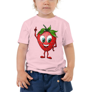 '' Strawberry'' Toddler Short Sleeve Tee - vegan-styles