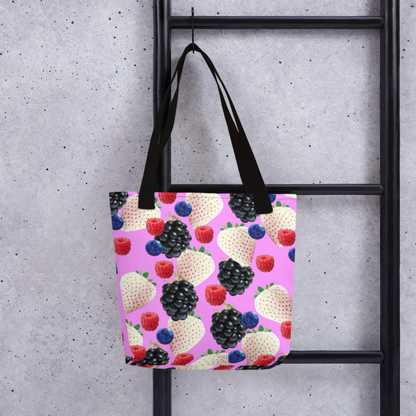 '' Berries pink'' Tote bag - vegan-styles
