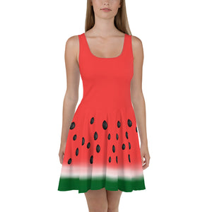 """Watermelon"" Skater Dress - vegan-styles"