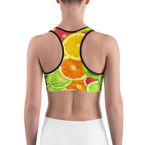 """Citrus"" Sports bra - vegan-styles"