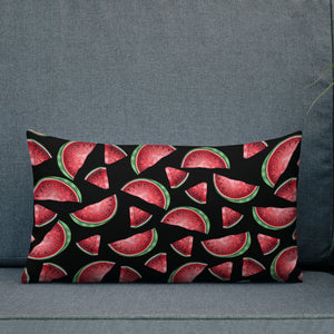 '' Watermelons'' Premium Pillow - vegan-styles