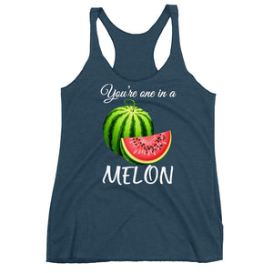 """ You're one in a melon"" Women's Racerback Tank - vegan-styles"