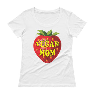 """ Vegan Mom"" Ladies' Scoopneck T-Shirt - vegan-styles"