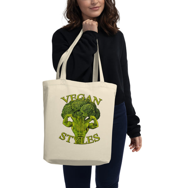 Eco Tote Bag Organic Cotton bag ''vegan styles'' - vegan-styles