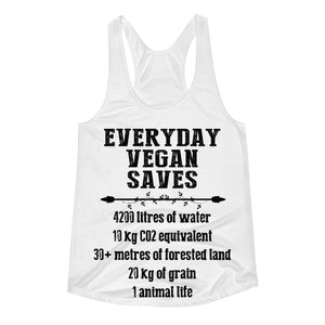 """Vegan Saves"" Women's Racerback Tank - vegan-styles"