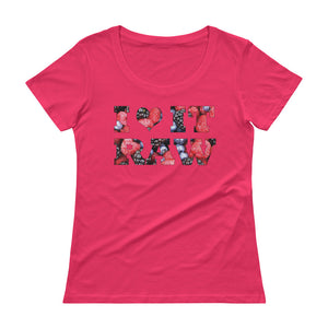 """ I love It Raw"" Ladies' Scoopneck T-Shirt - vegan-styles"