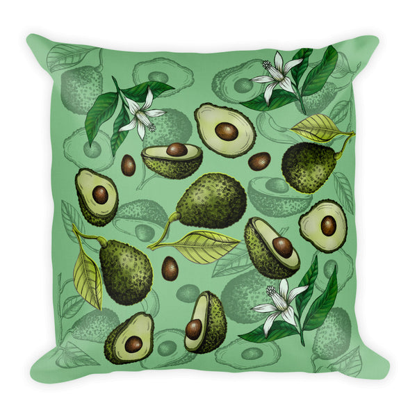 """Avocado"" Green Premium Pillow - vegan-styles"