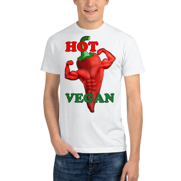 """Hot Vegan"" Sustainable T-Shirt - vegan-styles"