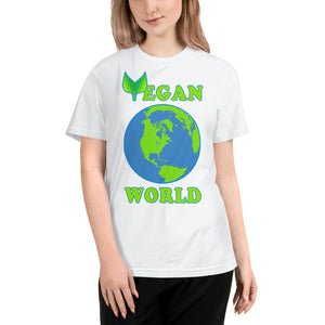 """Vegan World"" Unisex Eco Tee - vegan-styles"
