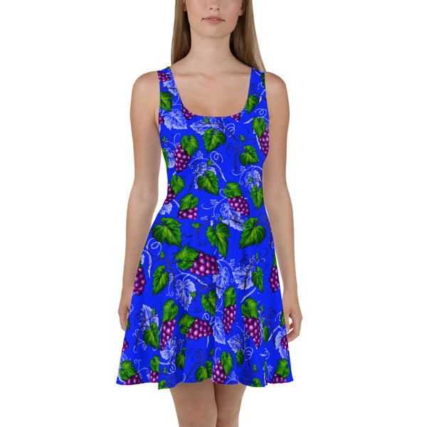 '' Grapes'' Skater Dress - vegan-styles