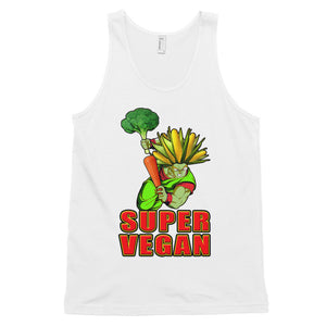 """Super Vegan"" tank top (unisex) - vegan-styles"