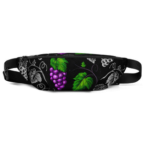 '' Black Grapes'' Fanny Pack - vegan-styles
