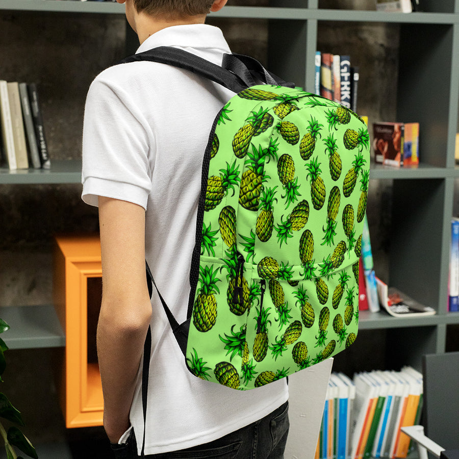 '' green pineapples'' Backpack - vegan-styles