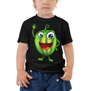 '' Happy Watermelon'' Toddler Short Sleeve Tee - vegan-styles