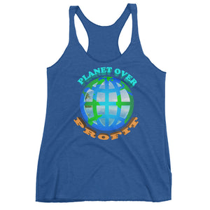 """Planet Over Profit"" Racerback Tank - vegan-styles"