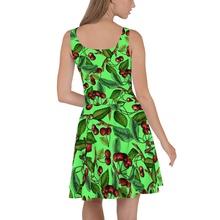 '' Cherry'' Skater Dress - vegan-styles