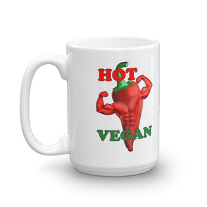 "Vegan-Styles ""Hot Vegan"" Ceramic Mug - vegan-styles"