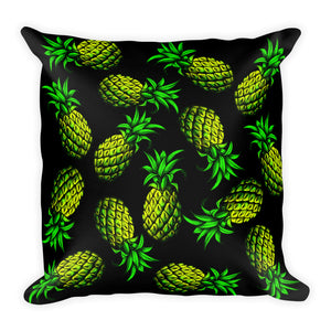 """Pineapple"" Black Premium Pillow - vegan-styles"