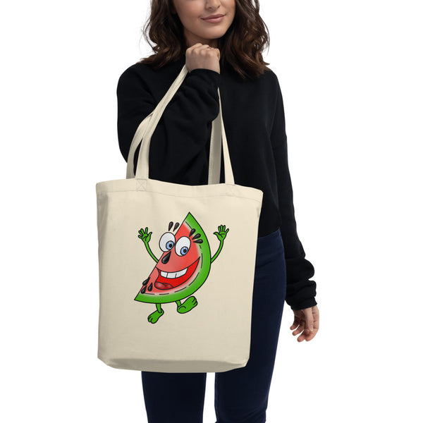 '' Watermelon'' Eco Tote Bag - vegan-styles