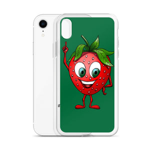 '' Green Strawberry'' iPhone Case - vegan-styles