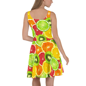 """Citrus"" Skater Dress - vegan-styles"